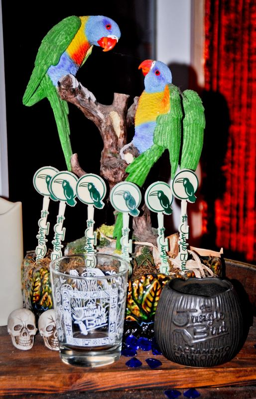 Custom Cocktail Swizzle Sticks Drink Stirrers At The Jungle Bird Bar Restaurant Sacramento.jpg