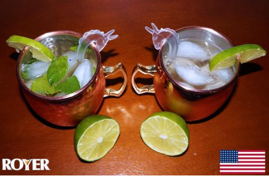 Custom Moscow Mule Swizzle Sticks