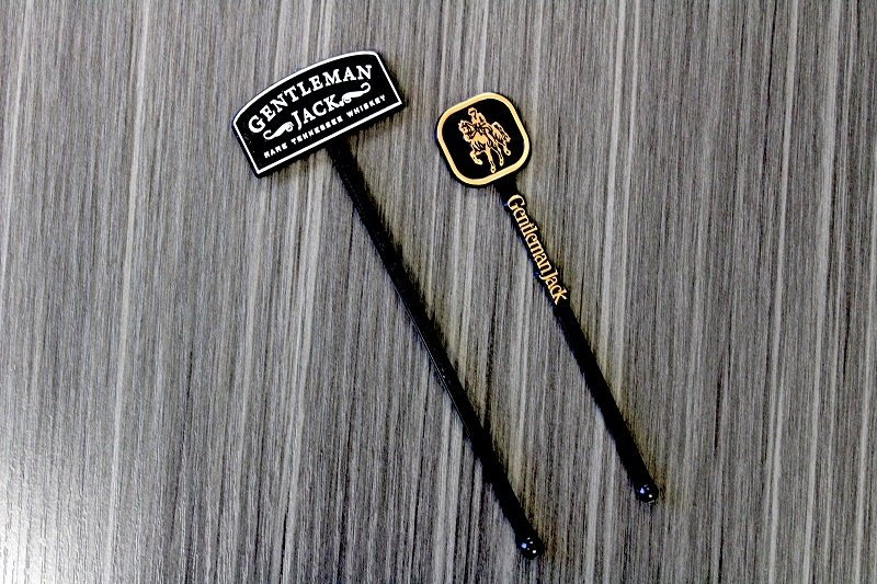 Custom Personalized Molded and Stamped Swizzle Sticks Cocktail Stirrers Gentleman Jack.jpg