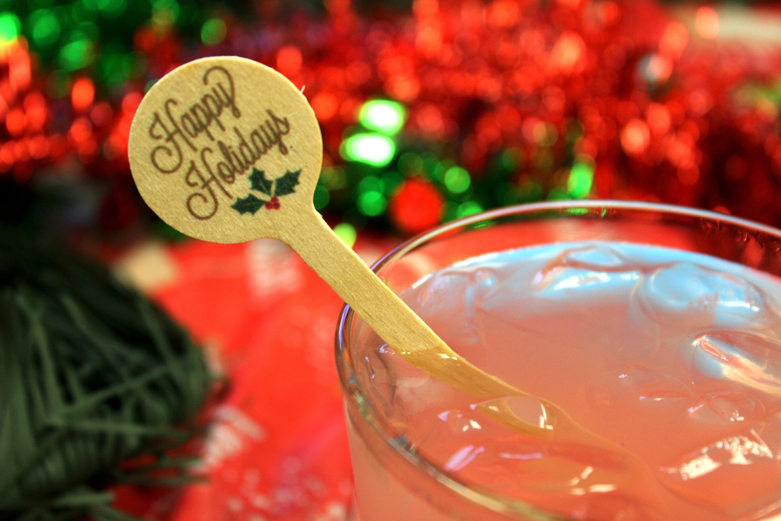 Happy Holiday Wooden Drink Stirrers Royer Corp.jpg
