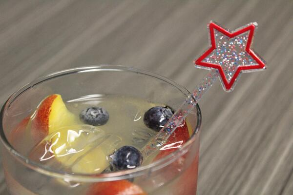 Patriotic Star Swizzle Sticks Drink Stirrers