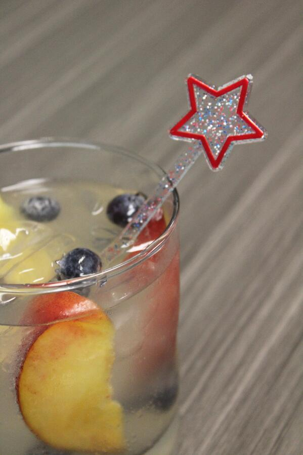 Glitter Stir Sticks Star