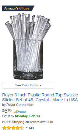 Royer Swizzle Sticks Earn